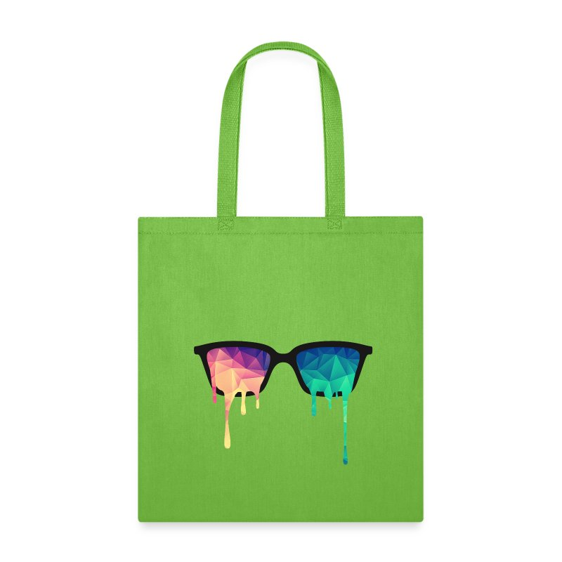 Abstract Psychedelic Nerd Glasses with Color Drops Bags & backpacks - Tote Bag