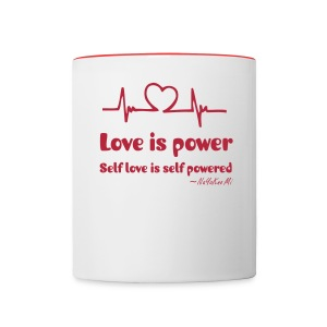 Love Power MUG - Contrast Coffee Mug