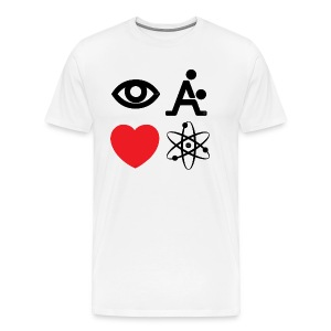I Fking Love Science by Tai's Tees - Men's Premium T-Shirt