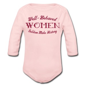 Well-Behaved Baby Long-Sleeve One Piece - Long Sleeve Baby Bodysuit