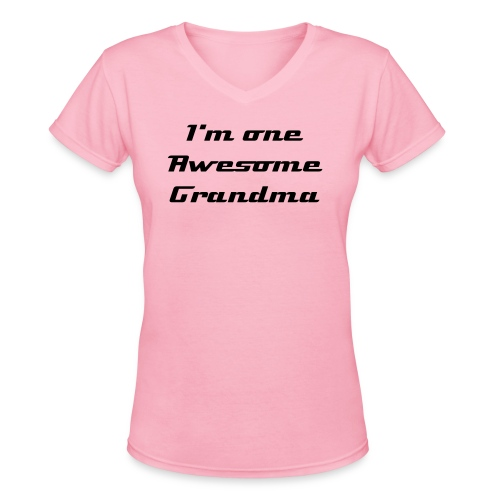 Awesome Grandma tee-shirt - Women's V-Neck T-Shirt