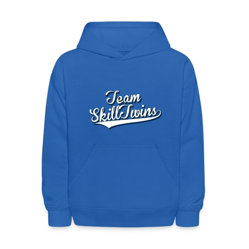 Kids' Hoodie - This is the SkillTwins Sweatshirt - Is classy and sporty at the same time! It's fits perfect during those days where you just wants to relax or go out and take some fresh air in the nature and play some street football.  This hooded sweatshirt for kids is a great warm and comfy hoodie for bundling up in the fall and winter months. It has a double-lined hood, double needle hood, shoulders and armholes, double-needle cuffs, pouch pocket and banded bottom. The sleeves are set-in and the 1x1 athletic rib cuffs and waistband are lined Lycra.   Hashtag your Instagram photo or Tweet us with the hashtag #SkillTwinsShop and we will check you out! // SkillTwins