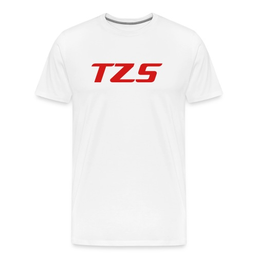 TZS White T-Shirt Signed By thezombislaya FIRST TEN SOLD!!! - Men's Premium T-Shirt