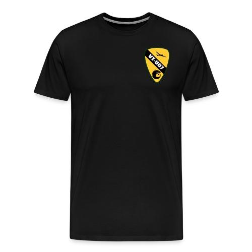 Plain Black w/ Single Color Patch - Men's Premium T-Shirt