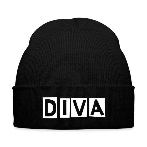 The Diva Project- DIVA Beanie - Knit Cap with Cuff Print