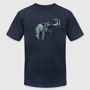 The mammoth, Primal elephants from the past. T-Shirts - Men's T-Shirt by American Apparel