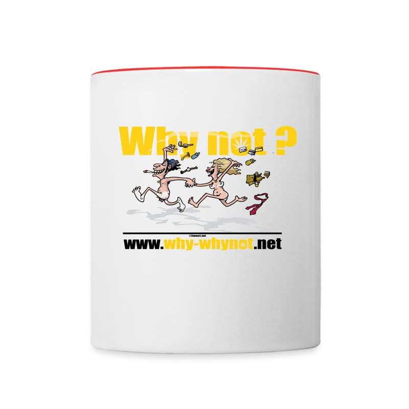 Contrast Coffee Mug - why not,undress from stress,back to nature