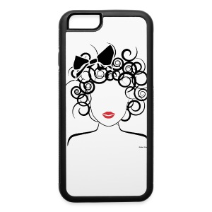 Global Couture Curly girl logo iphone 6  - iPhone 6/6s Rubber Case
