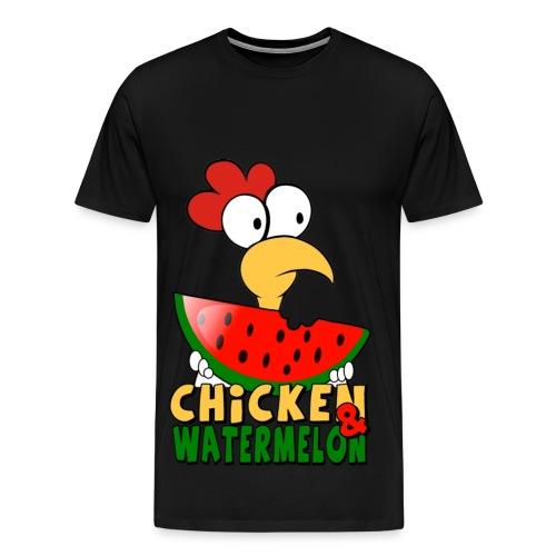 Chicken &  WaterMelon shirt - Men's Premium T-Shirt