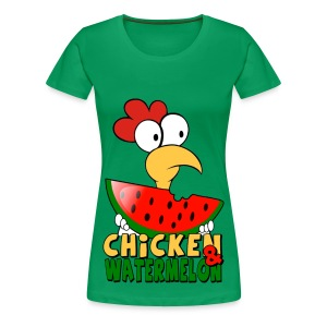 Chicken & WaterMelon shirt - Women's Premium T-Shirt