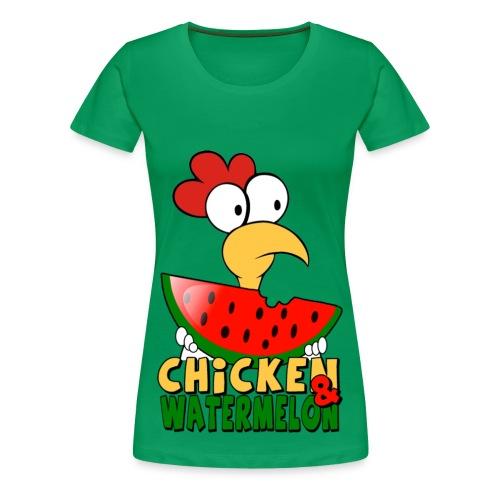 Chicken & WaterMelon shirt - Women's Premium T-Shirt