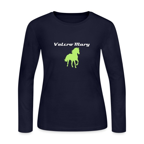 Pale Green Horse (Women's Long Sleeve) - Women's Long Sleeve Jersey T-Shirt