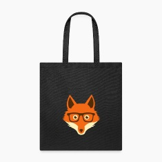 Sweet Funny hipster fox with nerd glasses Bags & backpacks