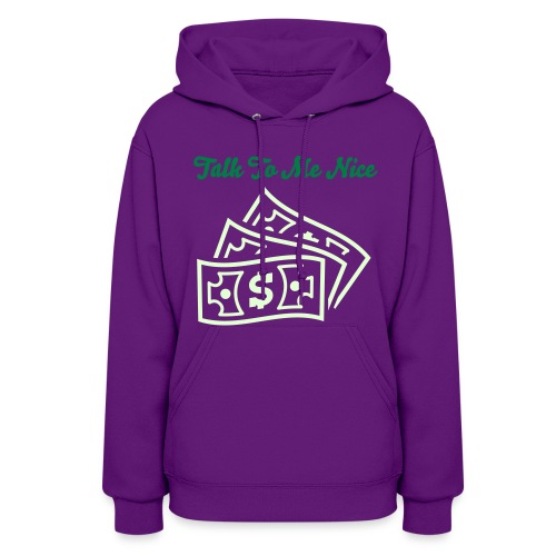 Green Smooth & Glow In The Dark Graphic Talk To Me Nice Hood - Women's Hoodie