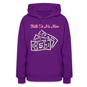 Pink Smooth & Glow In The Dark Graphic Talk To Me Nice Hood - Women's Hoodie