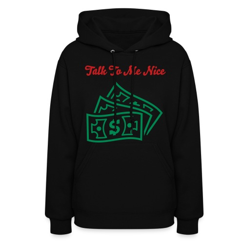 Red And Green Velvety Graphic Talk To Me Nice Hood - Women's Hoodie
