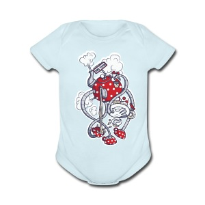 Short Sleeve Baby Bodysuit - time,tea,t-shirt,kid,funny,fun,cool