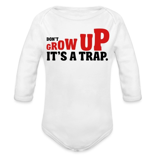 Its a Trap - Organic Long Sleeve Baby Bodysuit