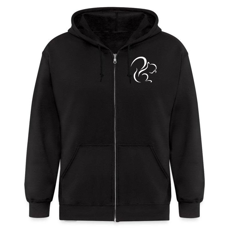 Mens Logo Zip Hoodie (Black) - Men's Zip Hoodie