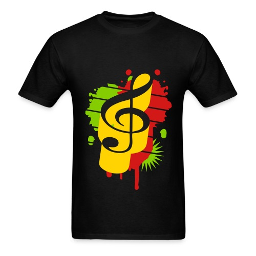 Kashdown - Rasta Music  - Men's T-Shirt