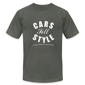 American Apparel T-shirt | Cars Sell Style | Classic American Automotive - Men's T-Shirt by American Apparel