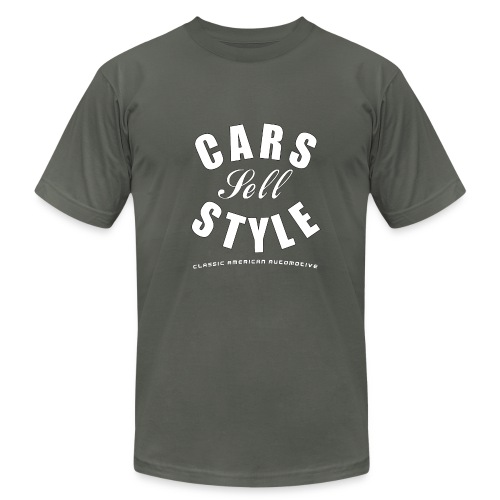 American Apparel T-shirt | Cars Sell Style | Classic American Automotive - Men's Fine Jersey T-Shirt