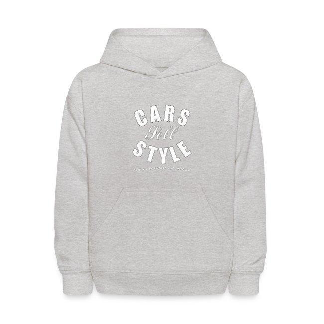 Kids' Hooded Sweatshirt   Cars Sell Style   Classic American Automotive