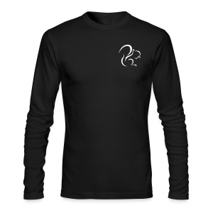 Mens Long Sleeve T-shirt (Black) - Men's Long Sleeve T-Shirt by Next Level