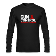 Long Sleeve Shirts ~ Men's Long Sleeve T-Shirt by American Apparel ~ Long Sleeved: Gun control