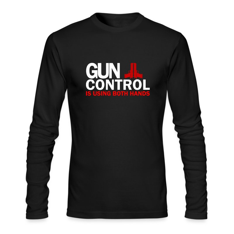 Long Sleeved: Gun control - Men's Long Sleeve T-Shirt by Next Level
