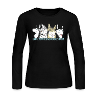 Long Sleeve Shirts ~ Women's Long Sleeve Jersey T-Shirt ~ Gone to the Snow Dogs - Women's Long Sleve