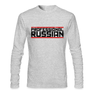 Long Sleeve Shirts ~ Men's Long Sleeve T-Shirt by American Apparel ~ Long Sleeved: Pro Russian