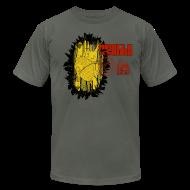 T-Shirts ~ Men's T-Shirt by American Apparel ~ New Black Gold Slim Fit Mens