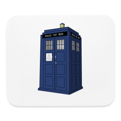 Police Call Box Mouse Pad - Mouse pad Horizontal