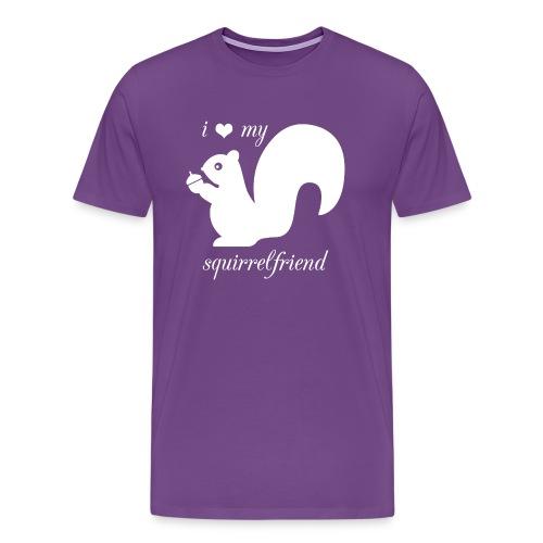 I ♥ My SquirrelFriend - Men's Premium T-Shirt