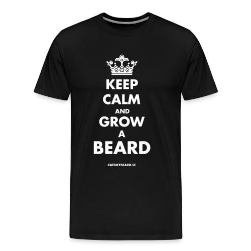Keep Calm and Grow a Beard - Men - Men's Premium T-Shirt