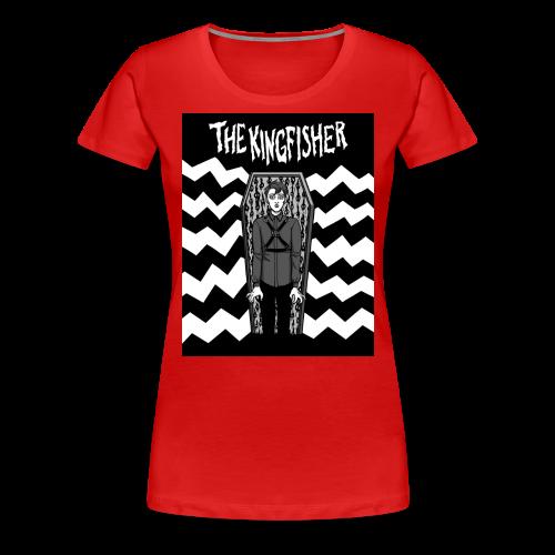 Kingfisher 4 laydeez - Expressionist - BLACK + WHITE SHIRT - Women's Premium T-Shirt