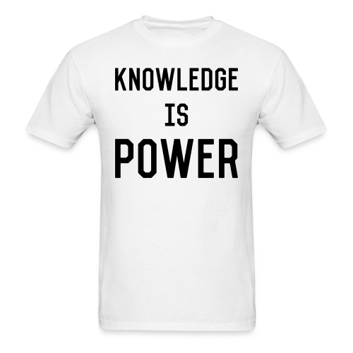 knowledge - Men's T-Shirt