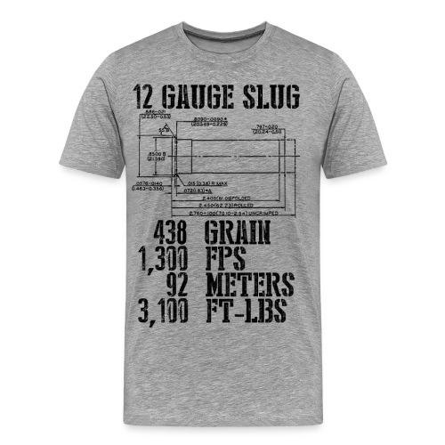 12 Gauge Slug - Men's Premium T-Shirt