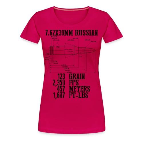 7.62x39mm Russian - Women's Premium T-Shirt