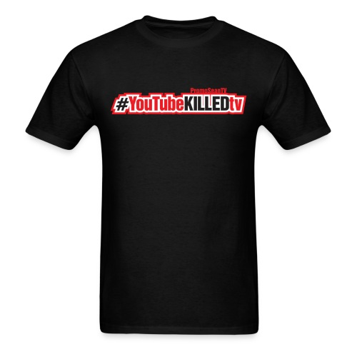 YouTube-Killed-TV Hashtag - Horizontal Print - Men's T-Shirt