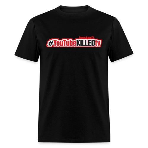 YouTube-Killed-TV Hashtag - Horizontal Print - Men's T-Shirt