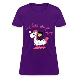 I'm Super Cutie Pie Anyway - PURPLE! - Women's T-Shirt