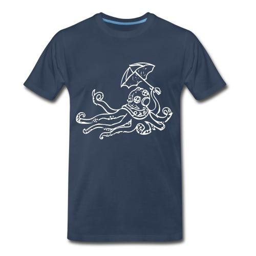 Octo Diver White Logo - Men's Premium T-Shirt