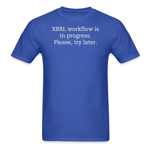 XBRL workflow is in progress - tee - Men's T-Shirt