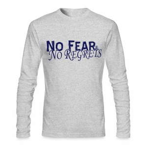 No Fear & No Regrets Long Sleeve Tee - Men's Long Sleeve T-Shirt by Next Level