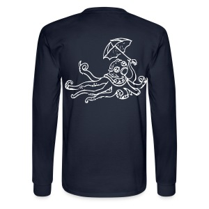 Octo Diver Long Sleeve Tako on Back - Men's Long Sleeve T-Shirt