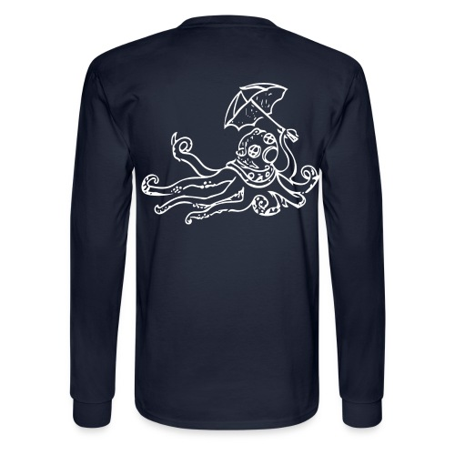 Octo Diver Long Sleeve Tako on Back - Men's Long Sleeve T-Shirt