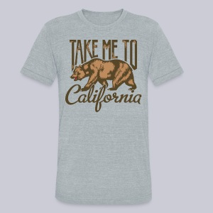 Take Me To Cali - Unisex Tri-Blend T-Shirt by American Apparel
