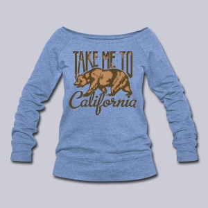 Take Me To Cali - Women's Wideneck Sweatshirt